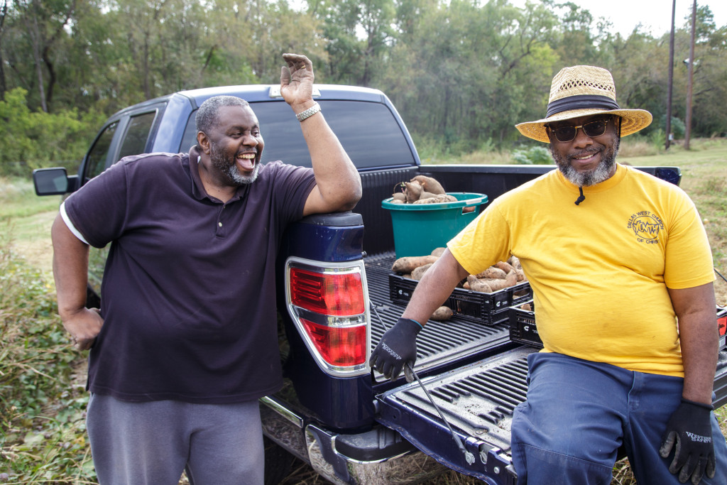 Urban gardeners in Dallas enjoy the harvest