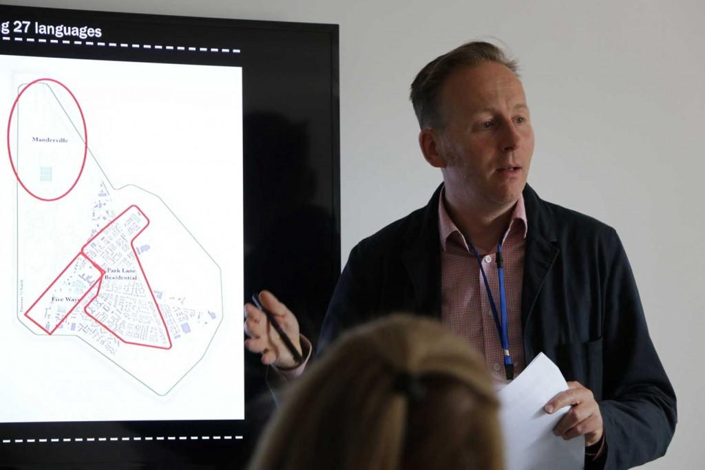 Lemon Tree Trust co-founder Mikey Tomkins makes presentation